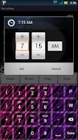 Screenshot of Girly Zebra Keyboard Skin