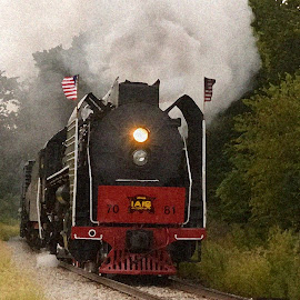 Steam Locomotive by Stephen Beatty - Transportation Trains