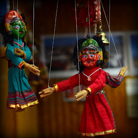 Puppets on a string by Prasanta Das - Artistic Objects Toys ( puppets, rajasthan, string )