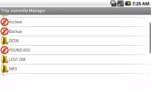 Tiny .nomedia Manager PRO - screenshot