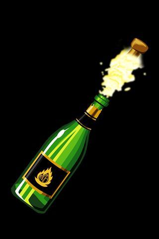 シャンパンのブラスト