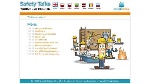 Safety Talks - Work Heights