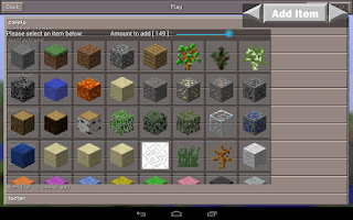 Screenshot of Inventory Edit for MCPE