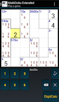 Screenshot of MathDoku Extended