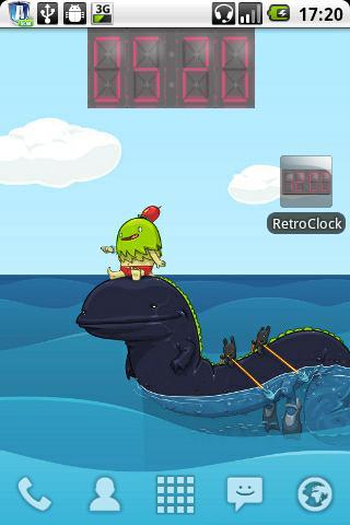 Retro Clock Widget