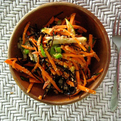 Raw Sweet Potato Salad with Arame