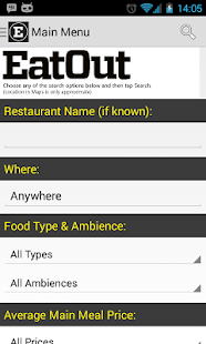 Eat Out Restaurant Guide 2015 - screenshot