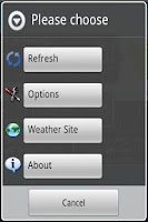 Screenshot of Weather Watch Widget - Demo