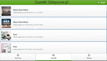Screenshot of Gazetki Sklepowe