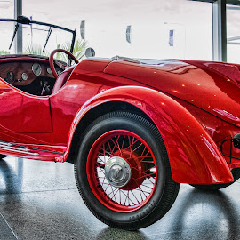 Classic red car by Vibeke Friis - Transportation Automobiles ( car, red, sports car, classic,  )