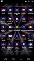 Screenshot of Purple Batcons Launcher Icons