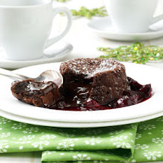 Molten Chocolate Cherry Cakes