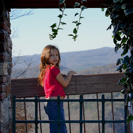 Kendra at Look out by Linda Blevins - Babies & Children Child Portraits ( child, beautiful, sight seeing )