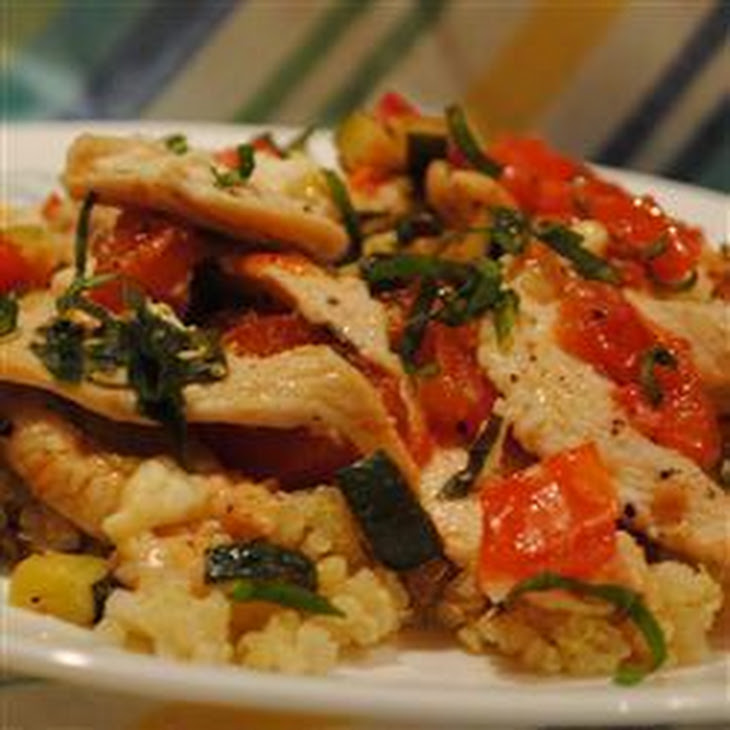 Quinoa with Chicken and Fresh Veggies Recipe | Yummly