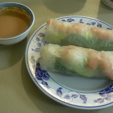 Shrimp Spring Rolls with Cucumber-Yogurt Dip