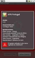 Screenshot of APN Portugal