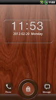 Screenshot of GO Locker Mahogany Wood Theme