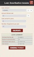 Screenshot of Loan Amortization Calculator