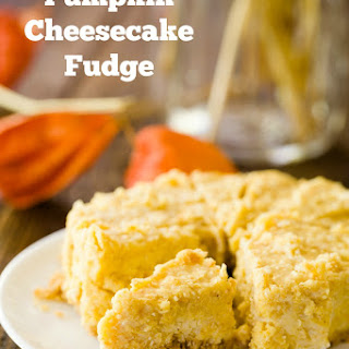 Pumpkin Cheesecake Fudge