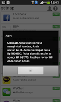 Screenshot of getnap :PULSA GRATIS 5rb-100rb