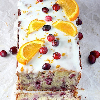Cranberry-Orange Ricotta Pound Cake