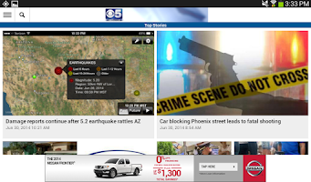 Screenshot of CBS5AZ.com