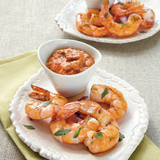 Grilled Shrimp with Romesco Sauce