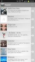 Screenshot of iDeviant - DeviantArt browser