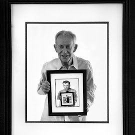 Life stages by Deborah Felmey - People Portraits of Men ( lookingback, family, framed, stages, portrait, aging,  )