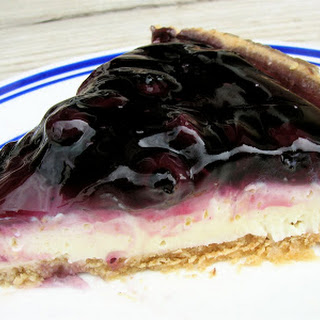 No Bake Fluffy Blueberry Cheesecake