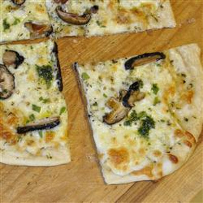 White Pizza with Porcinis
