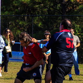Landed by Robby Batte - Novices Only Sports ( richmond lions, sports, celtic festival, rugby, highland games )