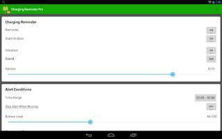 Screenshot of Charging Reminder