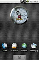 Screenshot of Mickey Mouse Clock Widget 2x2