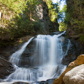 Moss Glen Falls by David Spaulding - Landscapes Mountains & Hills ( stream, waterfalls, nature, falls, rocks )