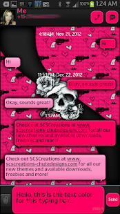 GO SMS - Rose Skulls 3 - screenshot