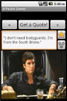 Screenshot of Al Pacino Quotes