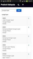 Screenshot of Poskod Malaysia