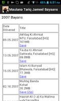 Screenshot of Maulana Tariq Jameel Bayaans