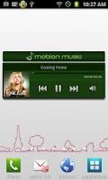 Screenshot of mobion music