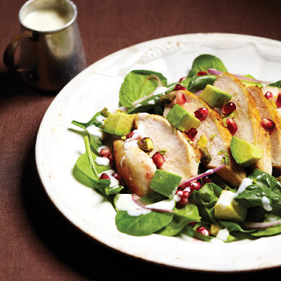 Hearty Chicken Salad with Pomegranate