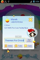 Screenshot of GO SMS Pro Cute Teddy Bear