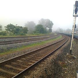 Curving at Londa by Siddharth Srinivasan - Transportation Trains ( curve, train )