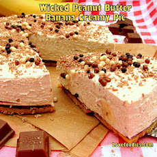 Wicked Peanut Butter Banana Creamy Pie