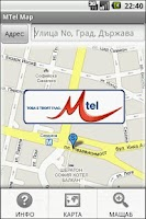 Screenshot of MTel Map