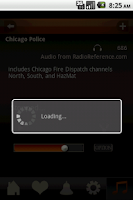 Screenshot of Police Scanner