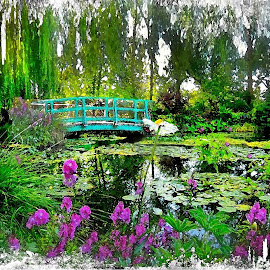 Monet's Garden ..Giverny,France by Patrick Graziose - Travel Locations Landmarks