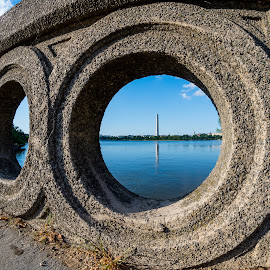 I view from a far by Jake Easton - Buildings & Architecture Statues & Monuments ( sony, a77mii, fisheye, washingtondc, 8mm, washington monument )