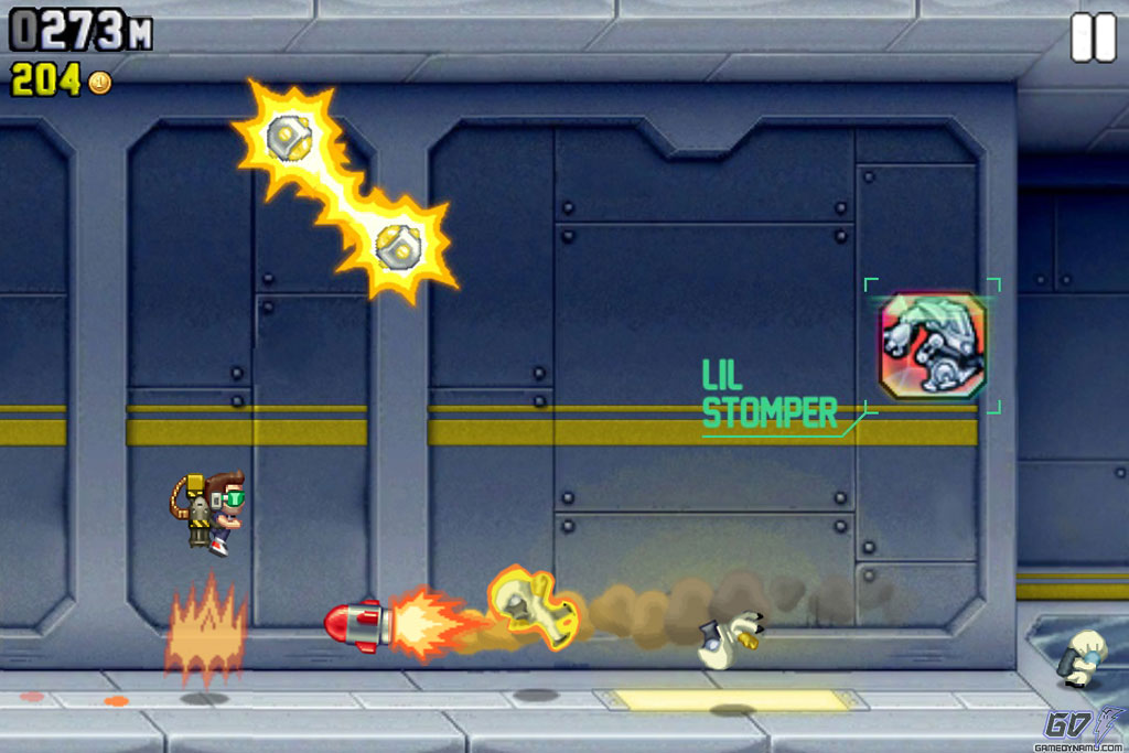 Endless runner - Jetpack Joyride
