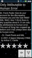 Screenshot of sci-fi quotes